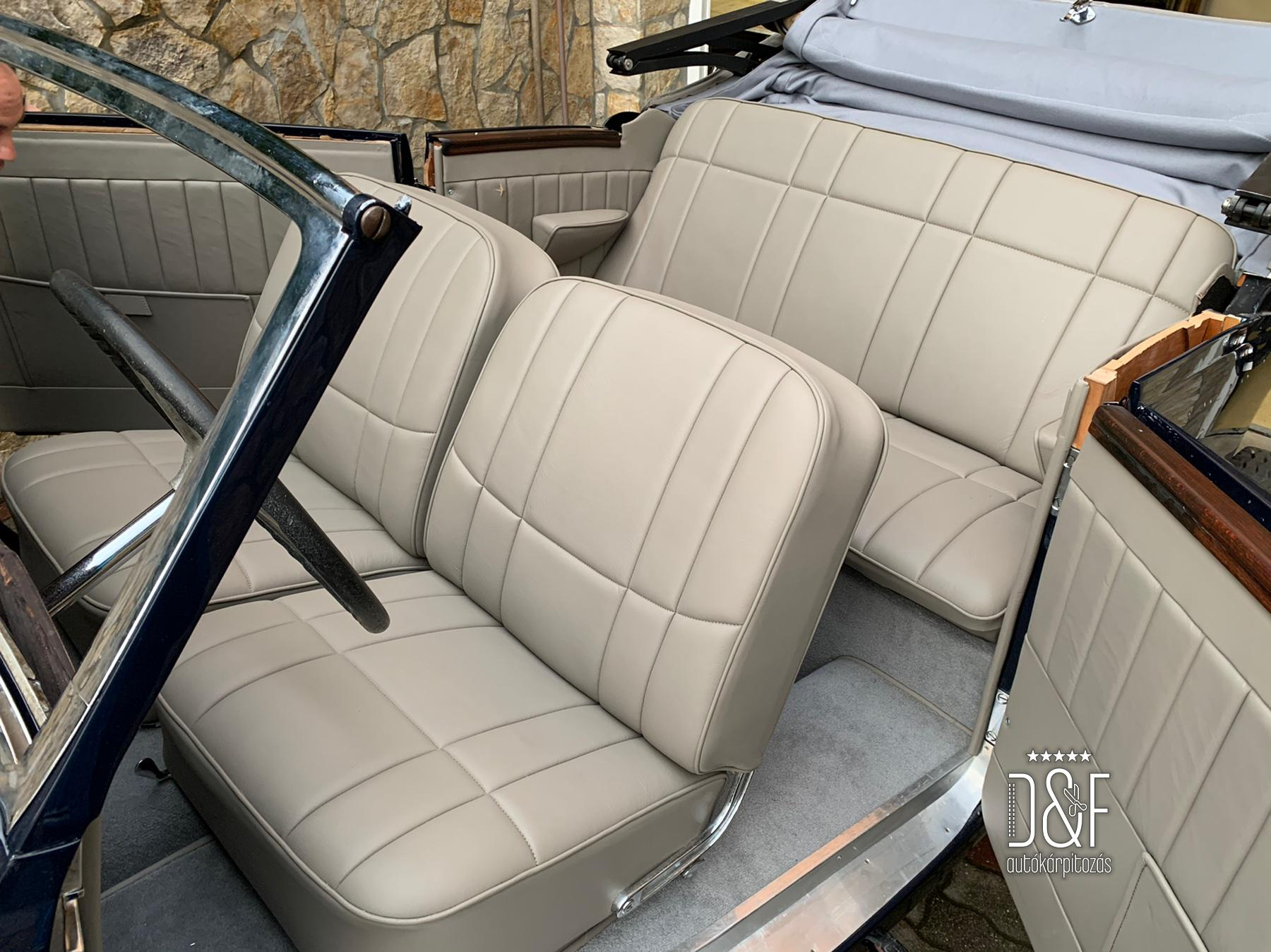 Mercedes Cabrio tető és komplett belső