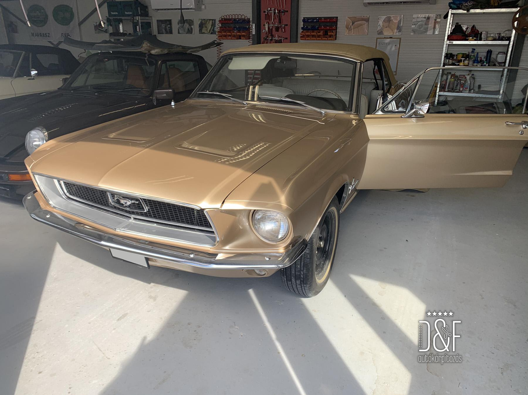 Ford Mustang Cabrió tető készítés